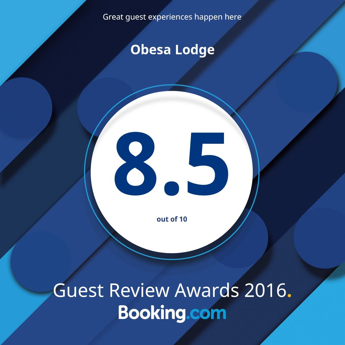 2016 Booking.com Guest Review Award